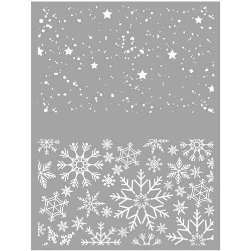 silk screen kerst sneeuwvlokken sterren