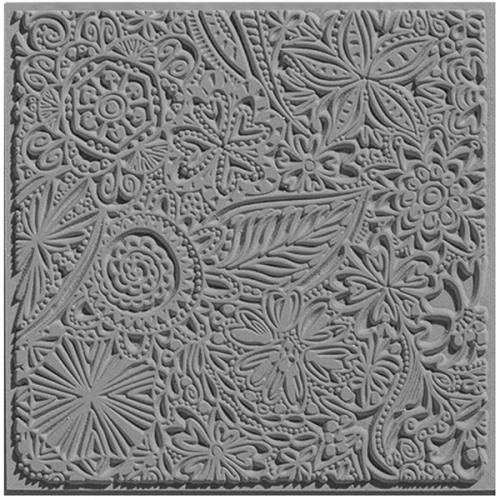 klei textuur bloemen